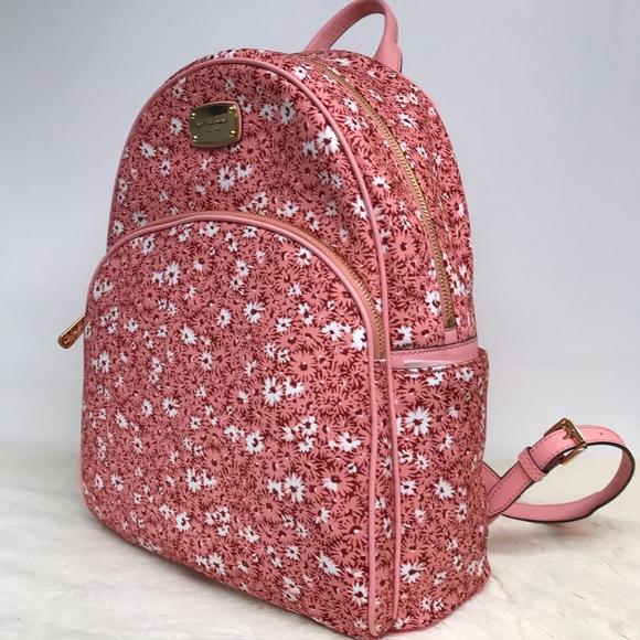 e392ad5462e8 Michael Kors Bags | Backpack Abbey Floral Pink Peach Nwt | Poshmark